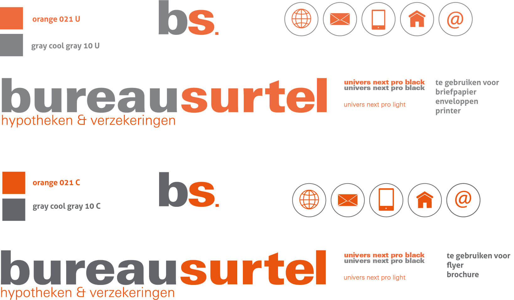 huisstijl en logo ontwerp bureau surtel grafischontwerpzaak