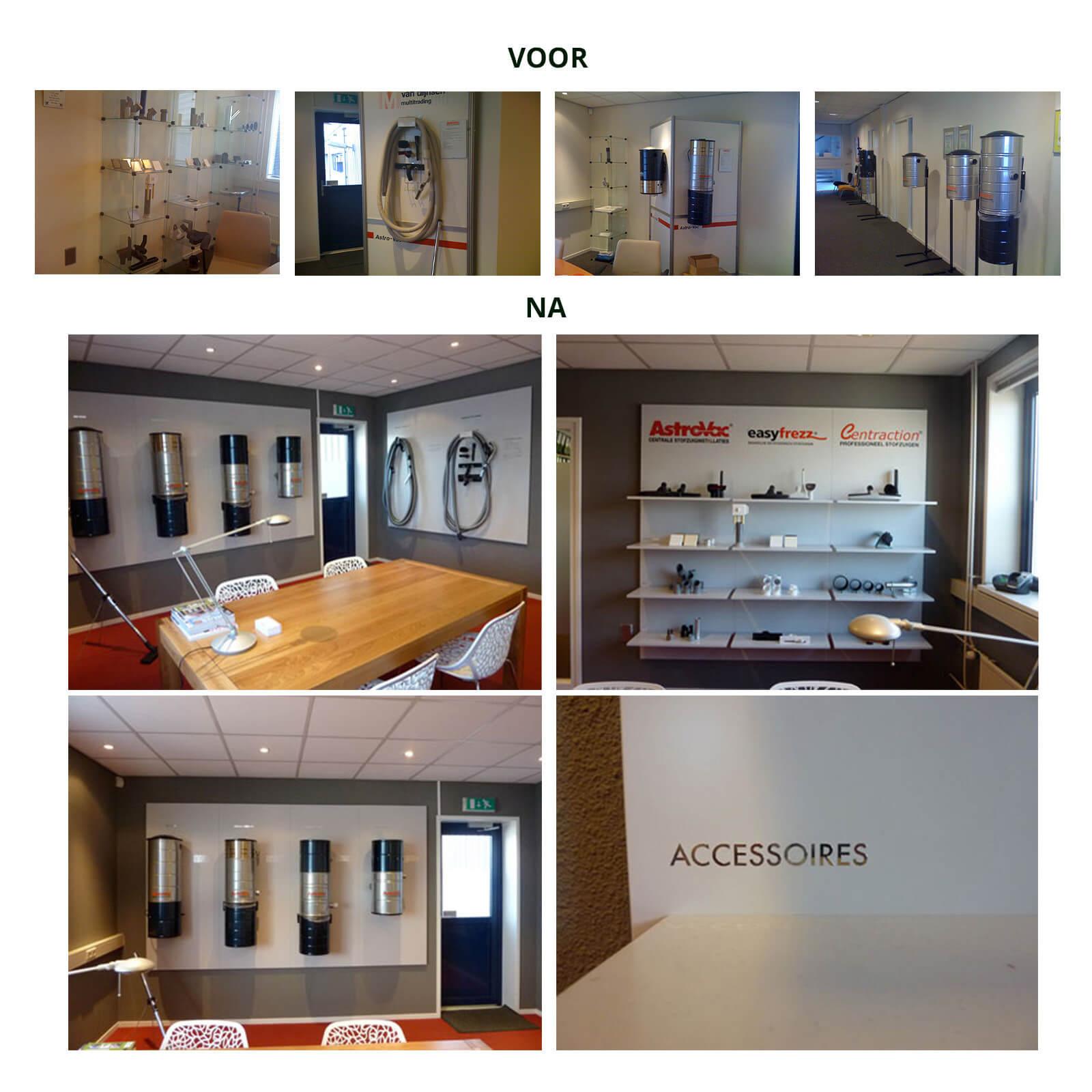 interieur, bewegwijzering, showroom AstroVac