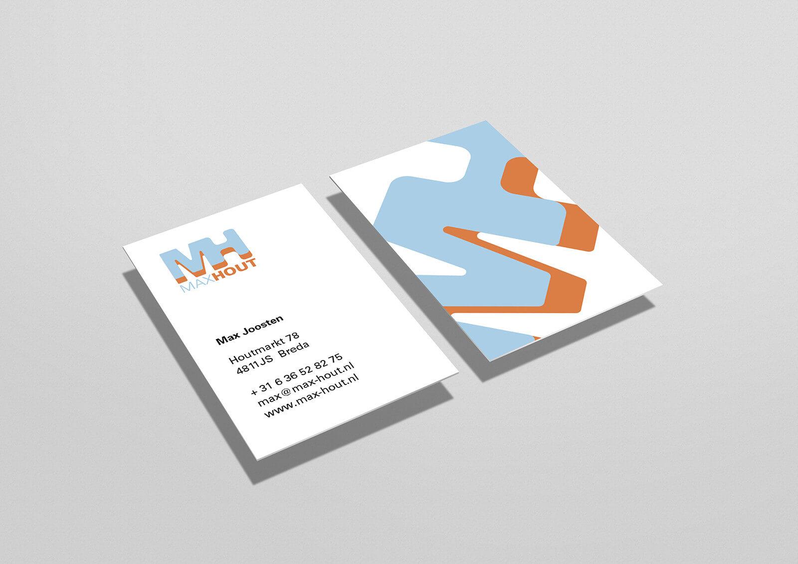 ontwerp visitekaartje Max Hout houtimport