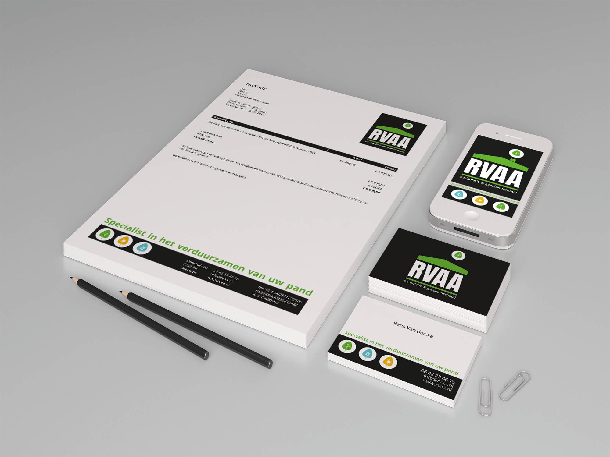 RVAA logo- huisstijl- en website-ontwerp