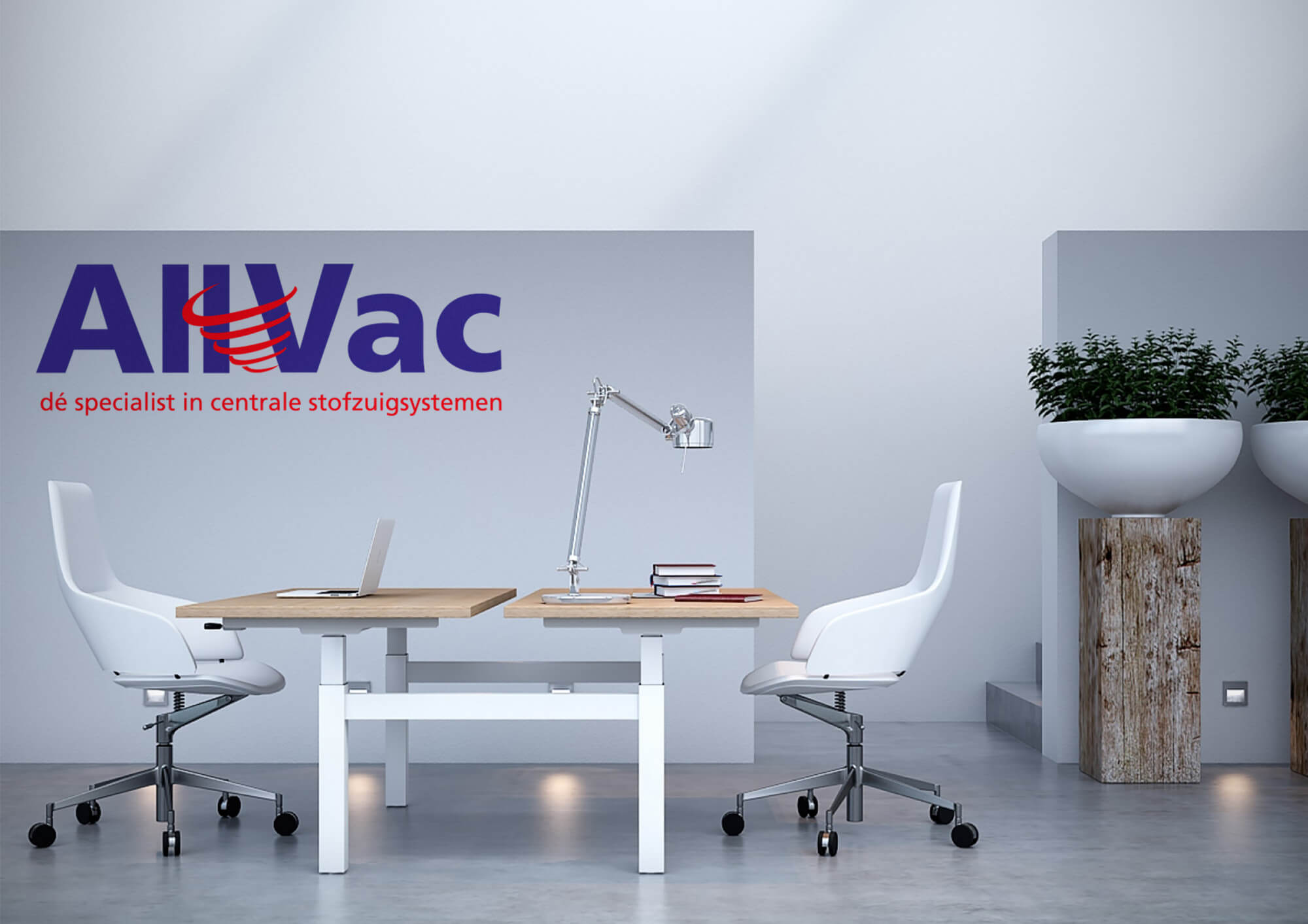 logo- en huisstijlontwerp AllVac grafischontwerpzaak