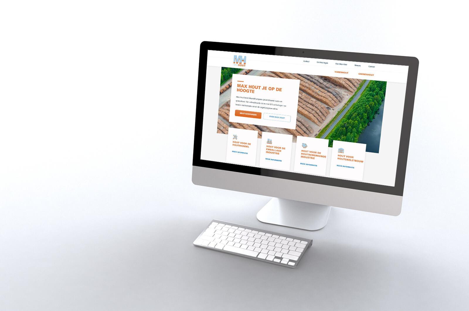 social post aankondiging nieuwe website max hout houtimport breda